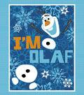 No-Sew Fleece Throw 48\u0022-Olaf