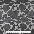 Holiday Shine Jacquard Fabric 57\u0022-Black Floral Foil