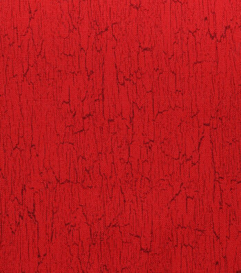 Christmas Cotton Fabric-Red Holiday Crackle