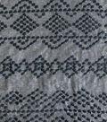 Cotton Embroidered Chambray Fabric 56\u0027\u0027-Navy
