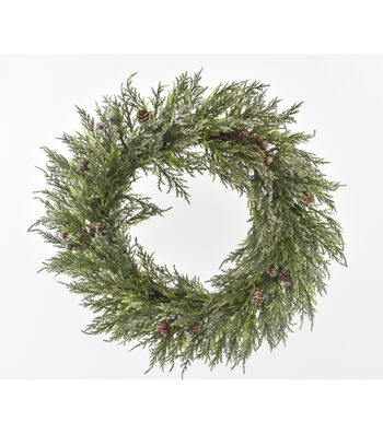 Blooming Holiday 22'' Frosted Berry, Pinecone & Greenery Wreath