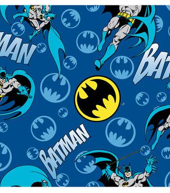 DC Comics Batman Flannel Fabric -Bat Signal