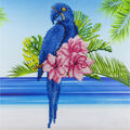 Leisure Arts Diamond Art Intermediate Kit 12\u0027\u0027X12\u0027\u0027-Blue Parrot
