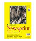 Strathmore Rough Newsprint Paper Pad 9\u0022X12\u0022-32lb 50 Sheets