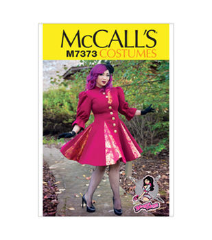 McCall's Pattern M7373-Fit and Flare or Godet Coats with Stand-Up Collar