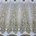 Casa Collection Dahlia Mesh Sequin Fabric-Romantic Gold
