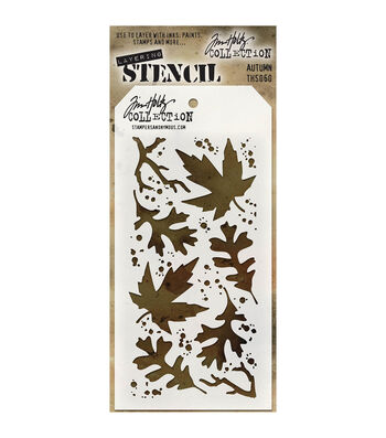 Stampers Anonymous Tim Holtz 4.13''x8.5'' Layered Stencil-Autumn