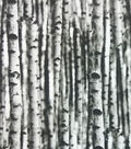 Novelty Cotton Photo Real Fabric -White Birch