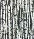 Novelty Cotton Photo Real Fabric 44\u0022-White Birch