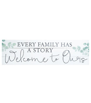 Simply Spring 35.75''x10.5'' Pallet Wall Decor-Every Family has a Story
