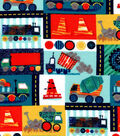 Nursery Flannel Fabric -Construction Patch