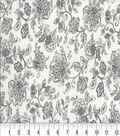 Keepsake Calico Cotton Fabric 44\u0022-Tonality Grey