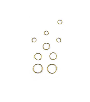 Blue Moon Findings Jump Ring Metal 4, 6 & 8mm Oxidized Brass