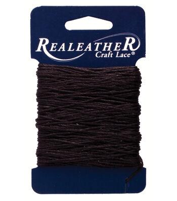Waxed Nylon Thread 25yd-Black