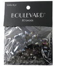 hildie & jo Boulevard 80 Pack Mixed Multi Sizes Glass Beads-Black