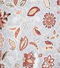 Premium Quilt Cotton Fabric-Red Medallion On Gray