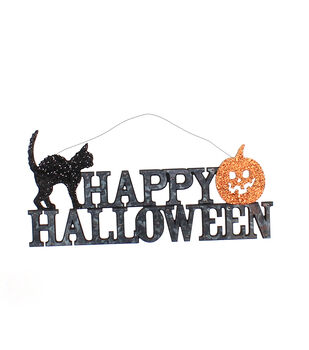 Maker's Halloween Galvanized Wall Decor-Happy Halloween