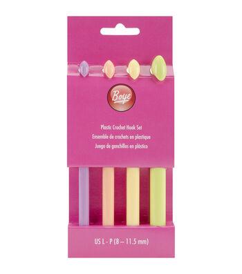 Boye Plastic Crochet Hook Set Sizes L11 To P16