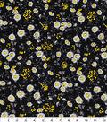 Keepsake Calico Cotton Fabric-Small Traditional Daisy Black