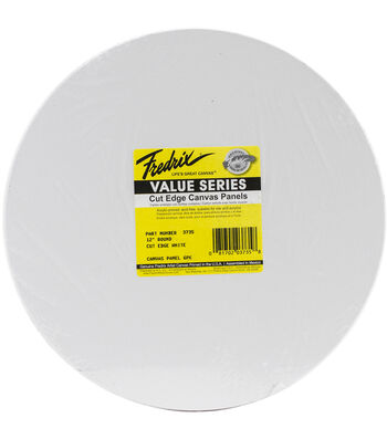 Tara Fredrix Round Cut Edge Canvas Panel 6/Pkg-12""
