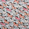 Super Snuggle Flannel Fabric-Tribal Horse Running