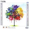 Leisure Arts Diamond Art Intermediate Kit 12\u0027\u0027X12\u0027\u0027-Rainbow Tree