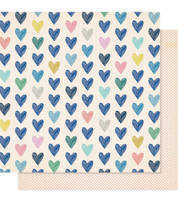 """Maggie Holmes Willow Lane Double-Sided Cardstock 12""""X12""""-Kind Heart"""