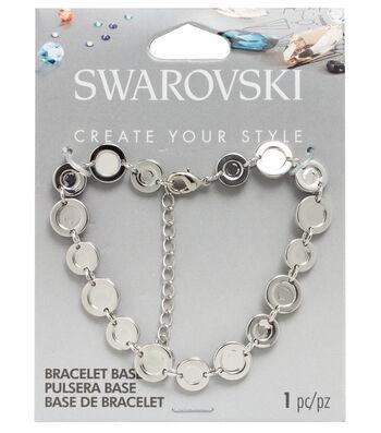 Swarovski Create Your Style Flat Back Bracelet Base-Silver