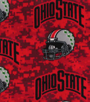 "Ohio State Fleece Fabric 58""-Helmets On Red, , hi-res"