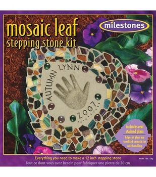Mosaic Stepping Stone Kit-Leaf