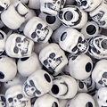 Skull Beads 250 pk-White Antique