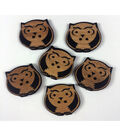 Organic Elements Wood Buttons 1.25\u0022-Owl