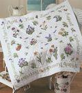Donna Dewberry Year Of Flowers Lap Quilt Stamped Kit-48\u0022x48\u0022