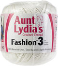 Aunt Lydia\u0027s Fashion Crochet Thread Size 3-White Multipack of 12