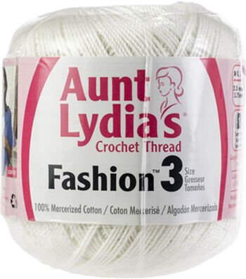 Aunt Lydia's Fashion Crochet Thread Size 3-White Multipack of 12