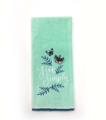 Hello Spring 16''x28'' Velour Terry Towel-Live Simply