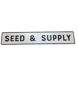 In the Garden 44''x8'' Metal Wall Decor-Seed & Supply