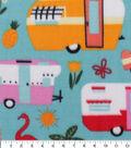 Anti-Pill Plush Fleece Fabric-Summer Camping