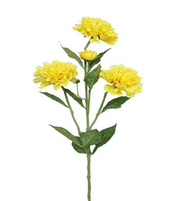 "Bloom Room 31"" Zinnia Spray-Yellow"