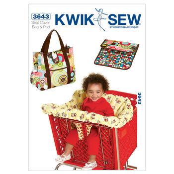 Kwik Sew Shopping Cart Seat Cover & Diaper Bag-K3643