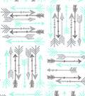 Snuggle Flannel Fabric-Mint Ava Arrows