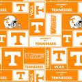 University of Tennessee Volunteers Fleece Fabric -Block
