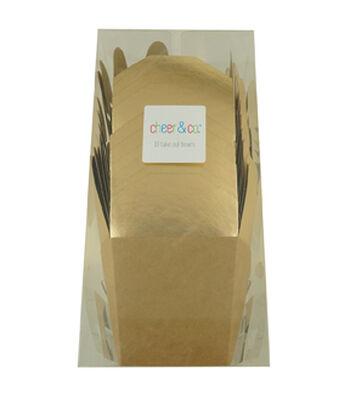 Cheer & Co. 10 pk Take Out Boxes-Kraft & Gold