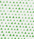Keepsake Calico Cotton Fabric-Green Shaded Triangle