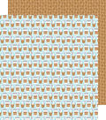 Cream & Sugar Double-Sided Cardstock 12\u0022X12\u0022-Coffee Break