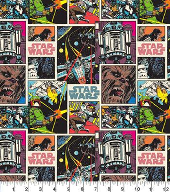"Star Wars Cotton Fabric 44""-Comic Stripe"