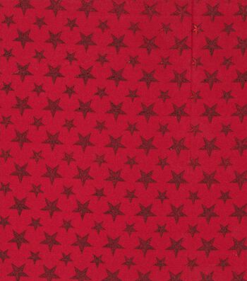 Patriotic Cotton Fabric 43''-Red Foiled Texas Stars