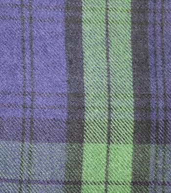 """Sportswear Acrylic Fabric 52""""-Navy & Green Blackwatch Plaid"""