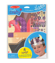 Melissa & Doug Simply Crafty Adventure Hats Kit-Makes 4, , hi-res