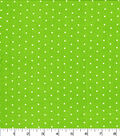 Christmas Cotton Fabric-White Dots on Lime